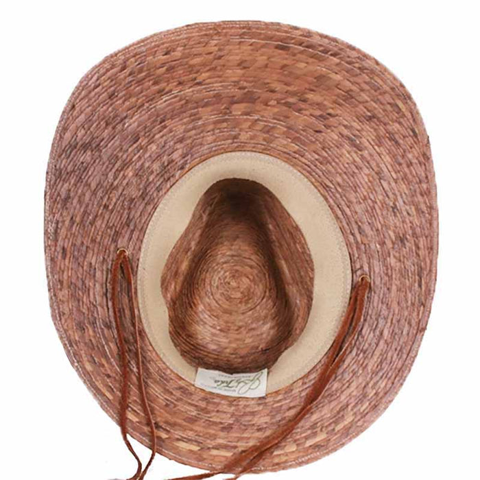 Angler Fishing Burnt Palm Leaf Sun Hat - Tula Hats