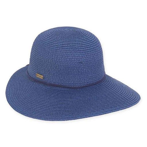 XL Size Women's Hats: Sun Hat with Leatherette Tie - Sun'N'Sand®