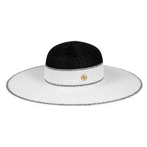 Black and White Summer Floppy Hat - Adrianne Vittadini