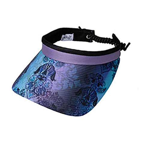 Lilac Paisley Golf Sun Visor with Coil Lace by GloveIt