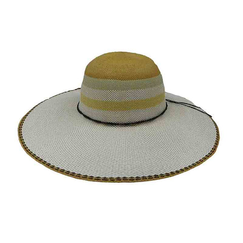 0676f763f4e Striped Crown Bangkok Toyo Summer Floppy Hat - Scala