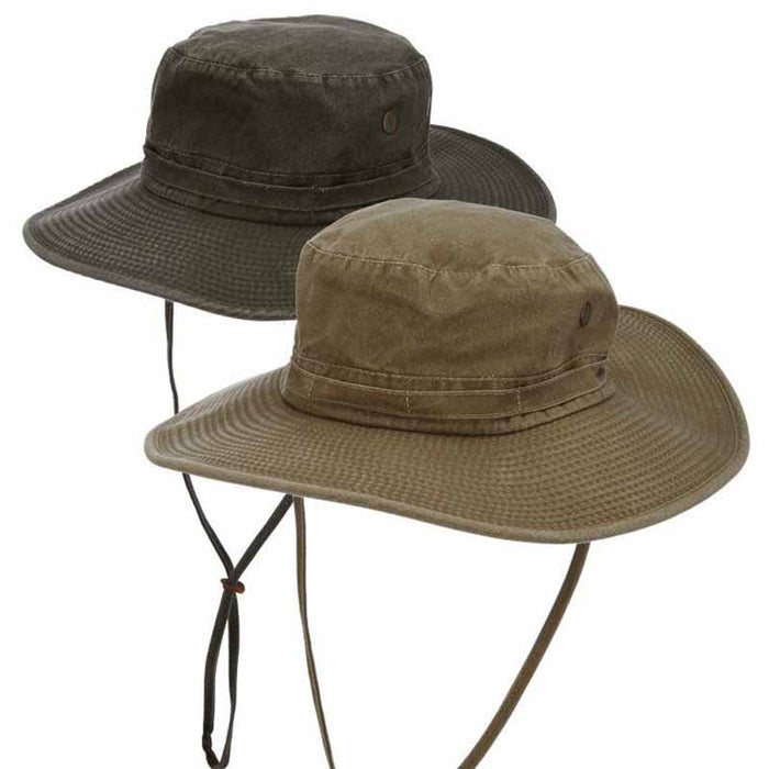 Cotton Floatable Brim Boonie with Chin Strap - DPC Outdoor Hats