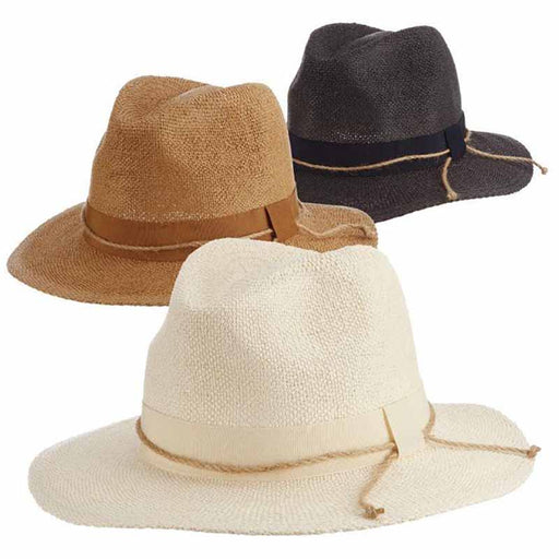 Bibury Bangkok Toyo Safari Hat with Rope Tie - Scala Collezione womens hat