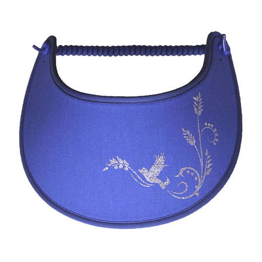 bird flying through edges blue miracle foam sun visor SetarTrading Hats