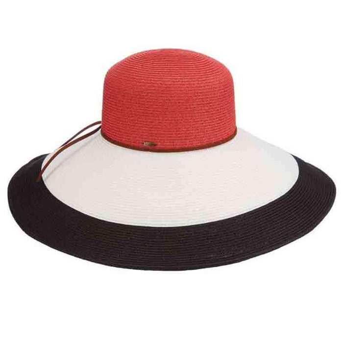 Large Brim Three Tone Sun Hat - Glanmire Brooklyn Hats