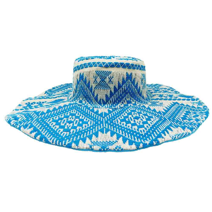 Blue Jacquard Bohemian Hat - America and Beyond