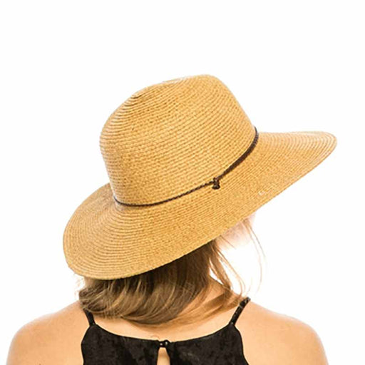 boardwalk wide brim floppy sun hat with chin cord natural heather extra large size womans hat 1739