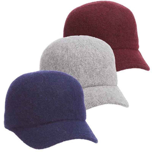 Knit Wool Winter Baseball Cap - Scala Collezione