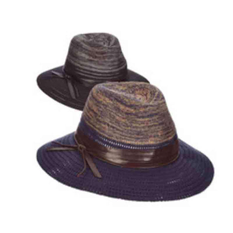 Brianne Knit Safari Hat with Multi Tone Crown - Scala Pronto