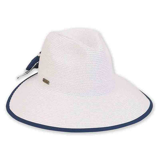 Backless Fedora Crown Hat with Large Bow - Sun'N'Sand
