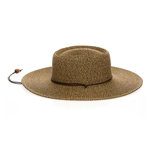 boardwalk wide brim floppy sun hat with chin cord black heather extra large size womens hat 1739