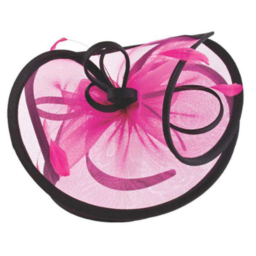 Large Satin Trimmed Fascinator - SetarTrading Hats