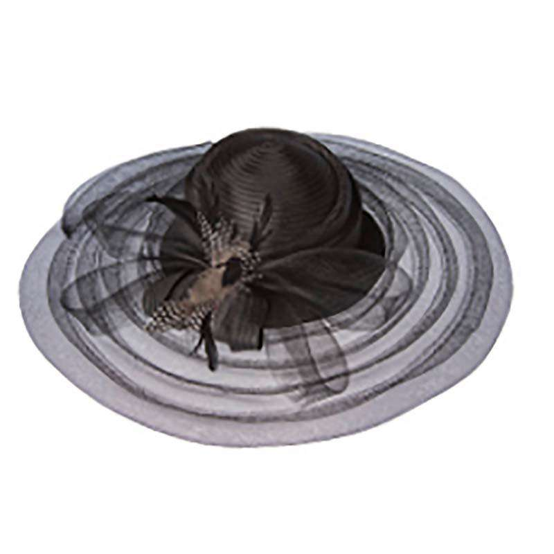 Taffeta Braid Crown Royal Ascot Hat - SetarTrading Hats