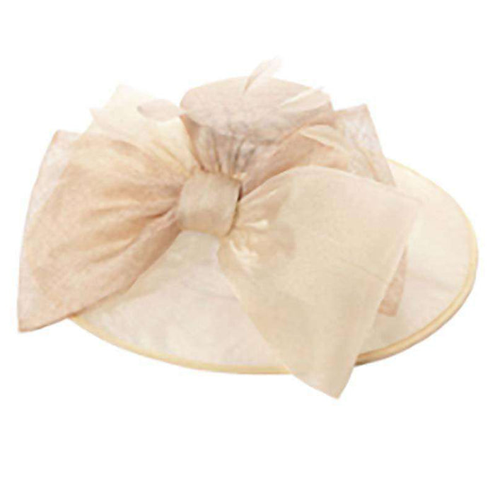 Sinamay Organza Hat with Large Bow - SetarTrading Hats