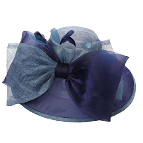 Sinamay Organza Hat with Large Bow