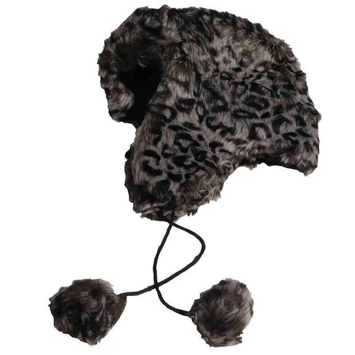 Cheetah Faux Fur Trapper Hat by JSA - SetarTrading Hats