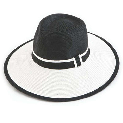 Two Tone Safari Style Straw Sun Hat - SetarTrading Hats