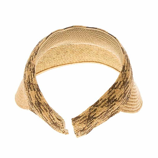 Clip On Sun Visor with Woven Straw Band - Boardwalk Style
