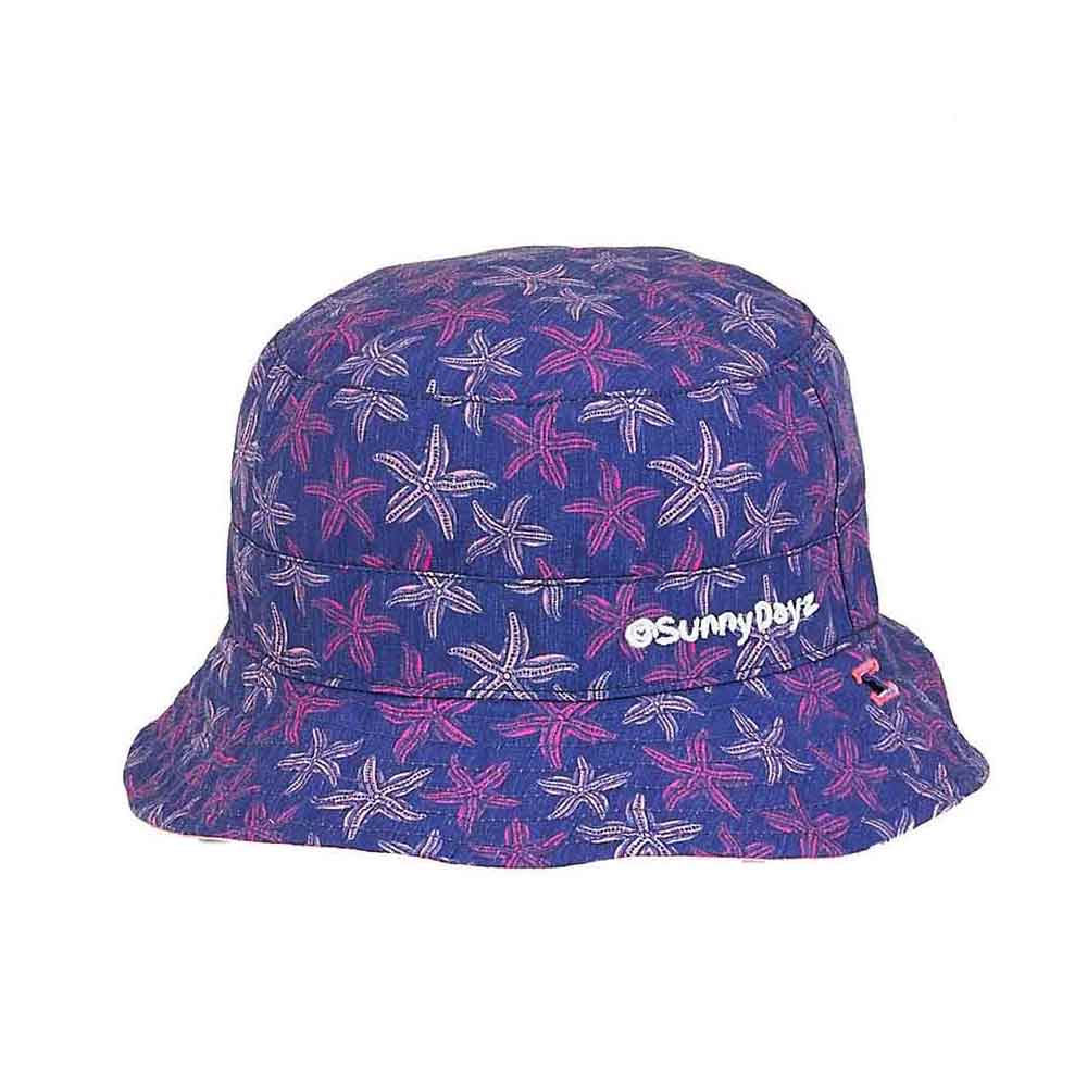 Small Heads Starfish Reversible Cotton Bucket Hat - Sunny Dayz™