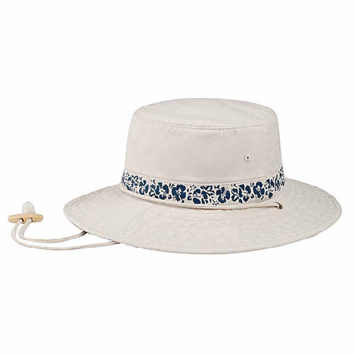 cotton bucket hat, hibiscus pattern hat, men and women boonie hat, hat with chin strap,