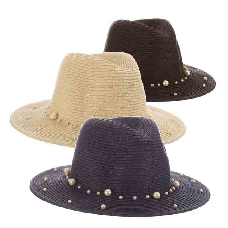 Straw Safari Hat with Pearls - The Pearls Collection