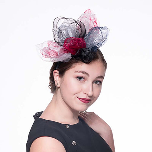 Wine Crush Crin Headband Fascinator - KaKyCO