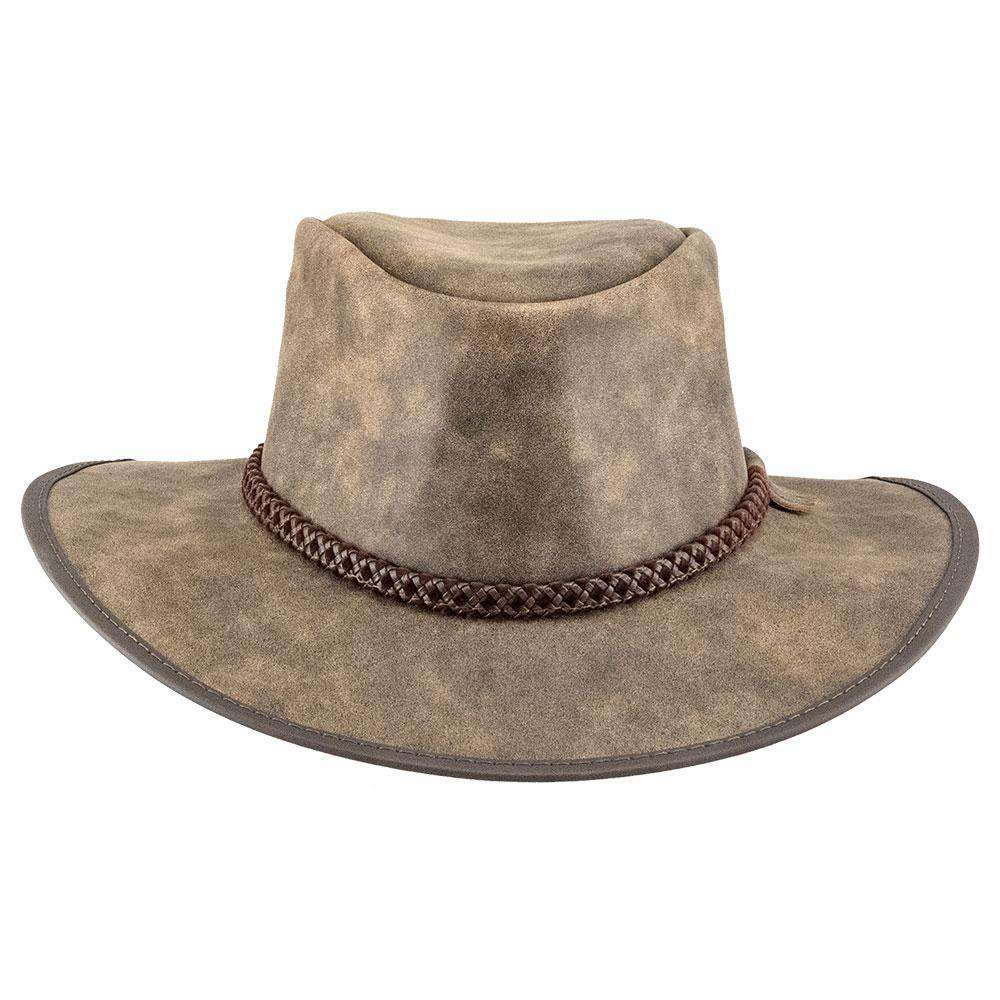Crusher Leather Outback - Bomber Brown - SetarTrading Hats
