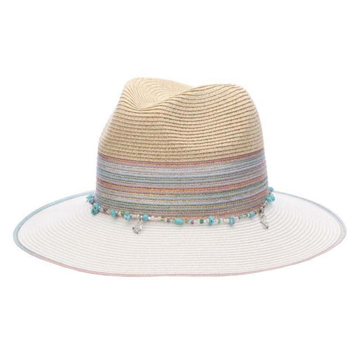 Iridescent Rainbow Trim Safari Hat - Cappelli Straworld