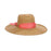 Gaucho Straw Summer Hat with Wide Ribbon Band - Cappelli Straworld