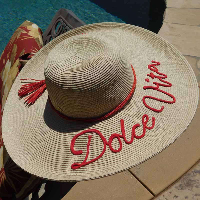 Dolce Vita Straw Floppy Hat with Tassel - SetarTrading Hats