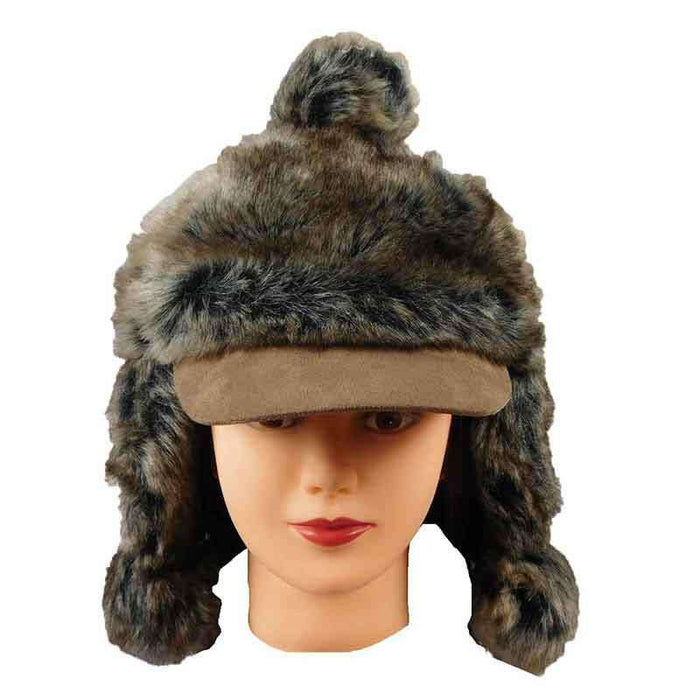 Faux Fur Duckbill Baseball Cap - SetarTrading Hats