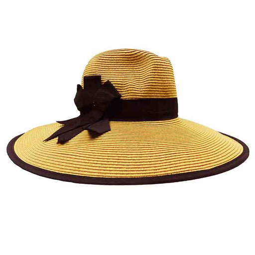Elegant Wide Brim Straw Hat - Large and Extra-Large Size