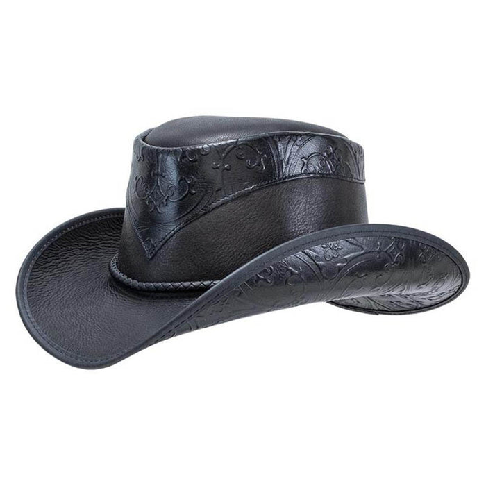 Falcon Leather Cowboy Hat up to 3XL - Double G Western Hats, USA