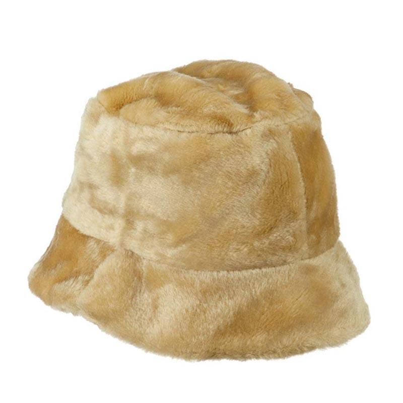 faux fur bucket hat for women jeanne simmons