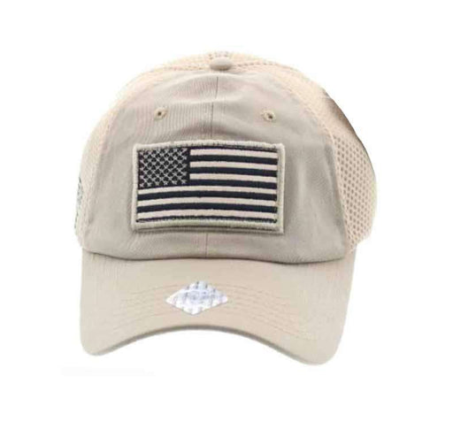 USA Flag Caps with Mesh Back - HQ
