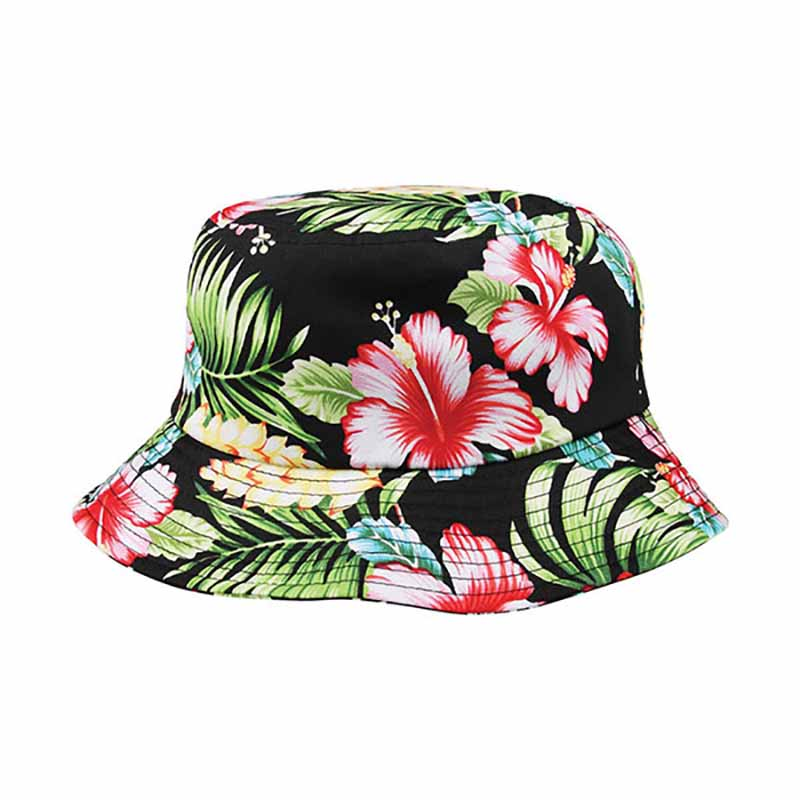 Floral Print Cotton Bucket Hat  - Mega Cap