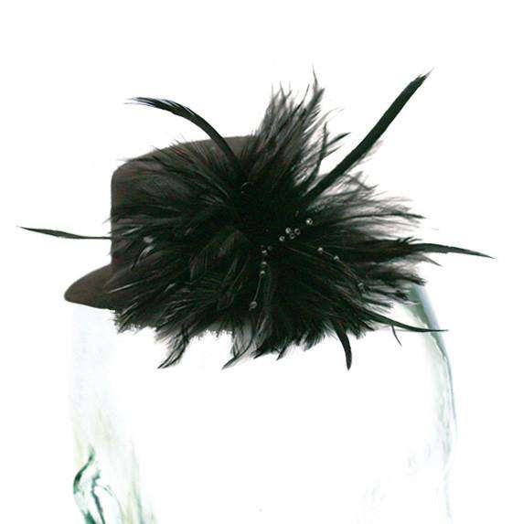Mini Hat with Feather Burst - SetarTrading Hats