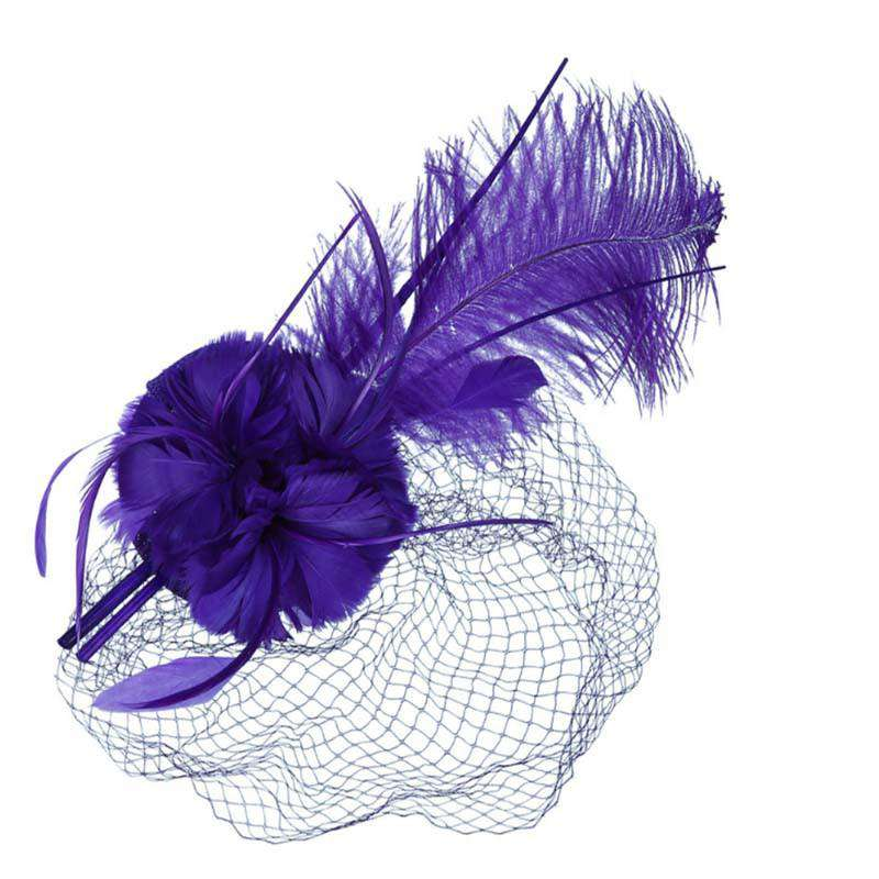 Long Feather Fascinator - SetarTrading Hats