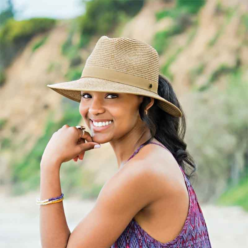 Gabi Ponytail Hole Fedora - Wallaroo Hats