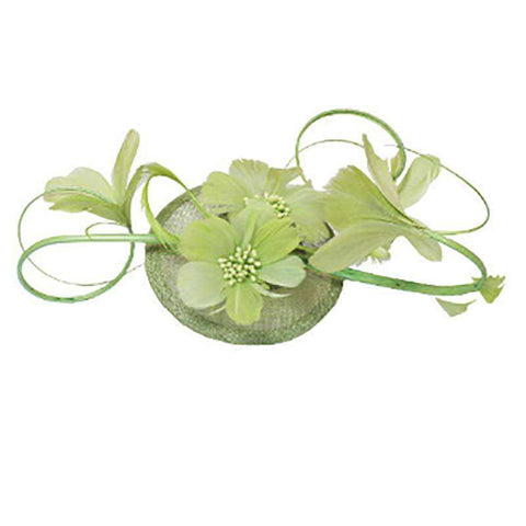 Feather Flower Stem Fascinator