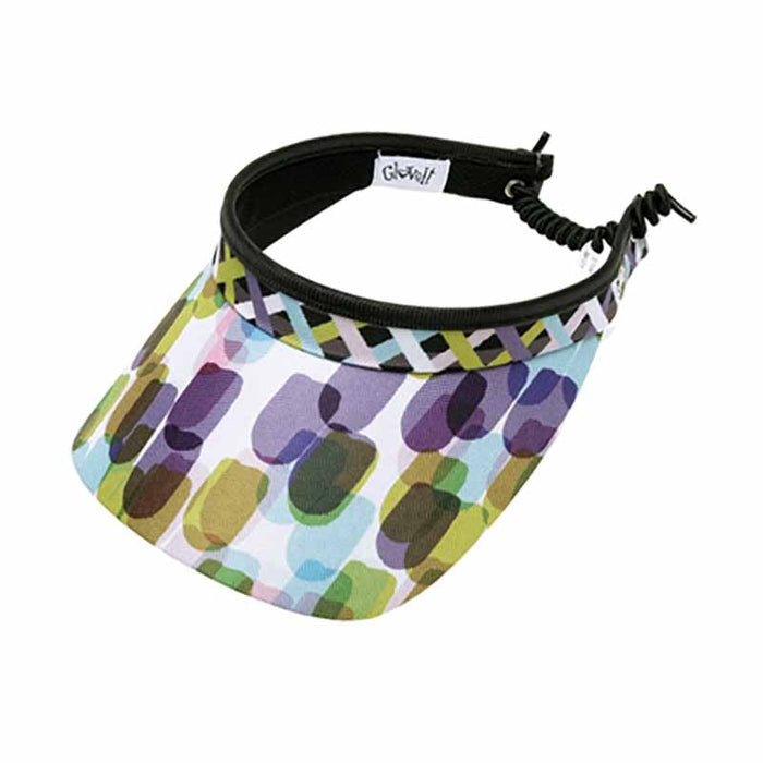 Geo Mix Print Golf Sun Visor with Coil Lace by GloveIt