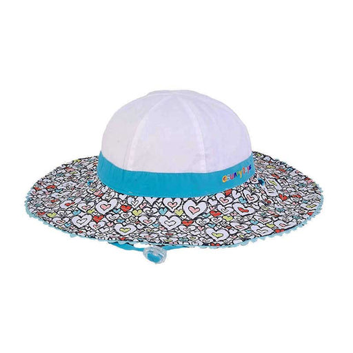 Girls Reversible Heart Print Cotton Bucket Hat - Sunny Dayz™