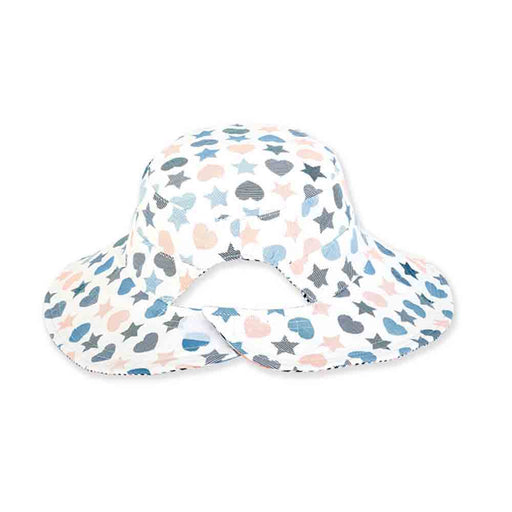 Girls Reversible Hearts and Stars Cotton Bucket Hat - Sunny Dayz™