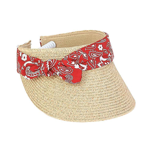 Small Heads Straw Bandana Band Visor with Coil Closure - Sunny Dayz™