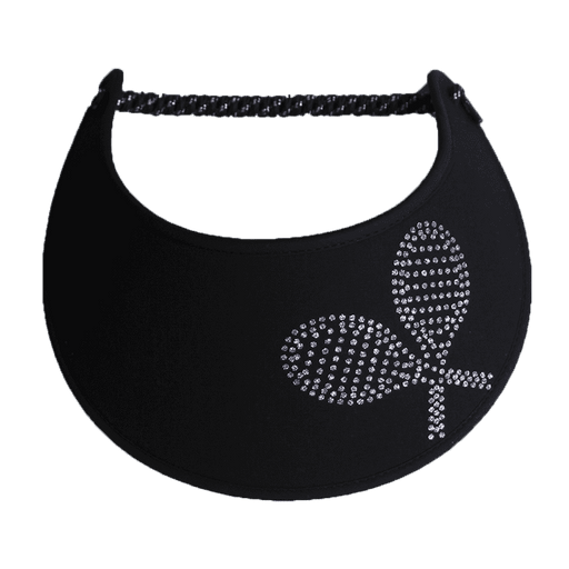 Double Tennis Raquet Glitz Fabric-Foam Sun Visor - SetarTrading Hats
