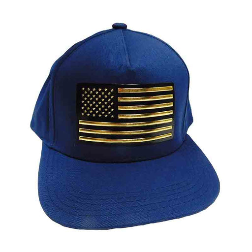 Gold USA Flag Patch Snapback Caps