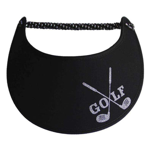 Golf Club Glitz Fabric-Foam Sun Visor