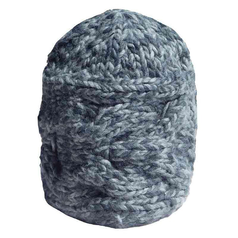 Cable Knit Beanie by JSA - Mixed Grey