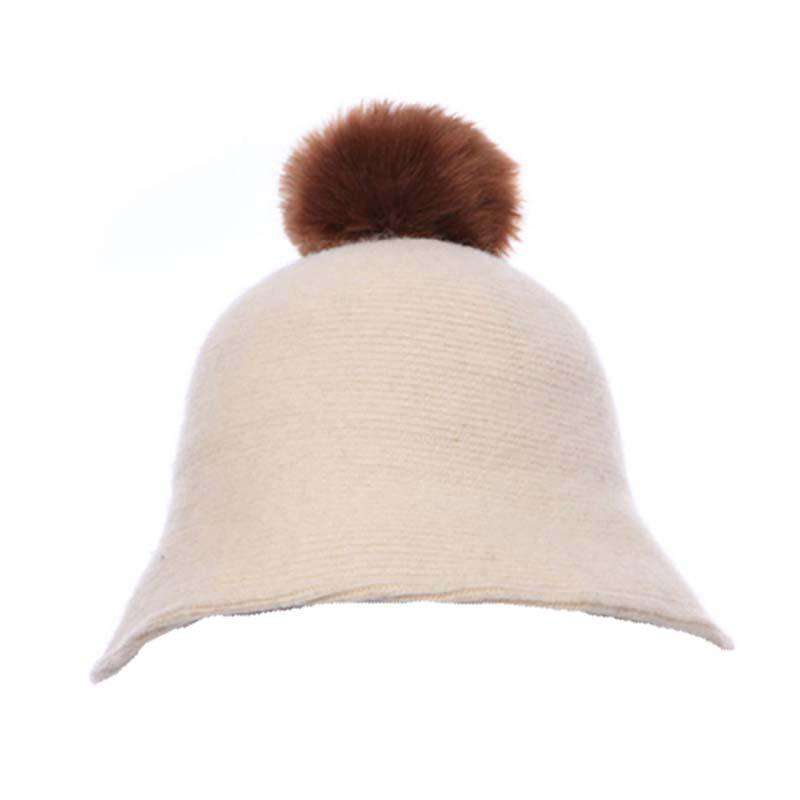 Wool Cloche with Pom Pom
