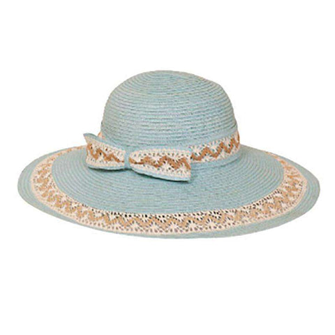 Lace Trimmed Summer Floppy Hat